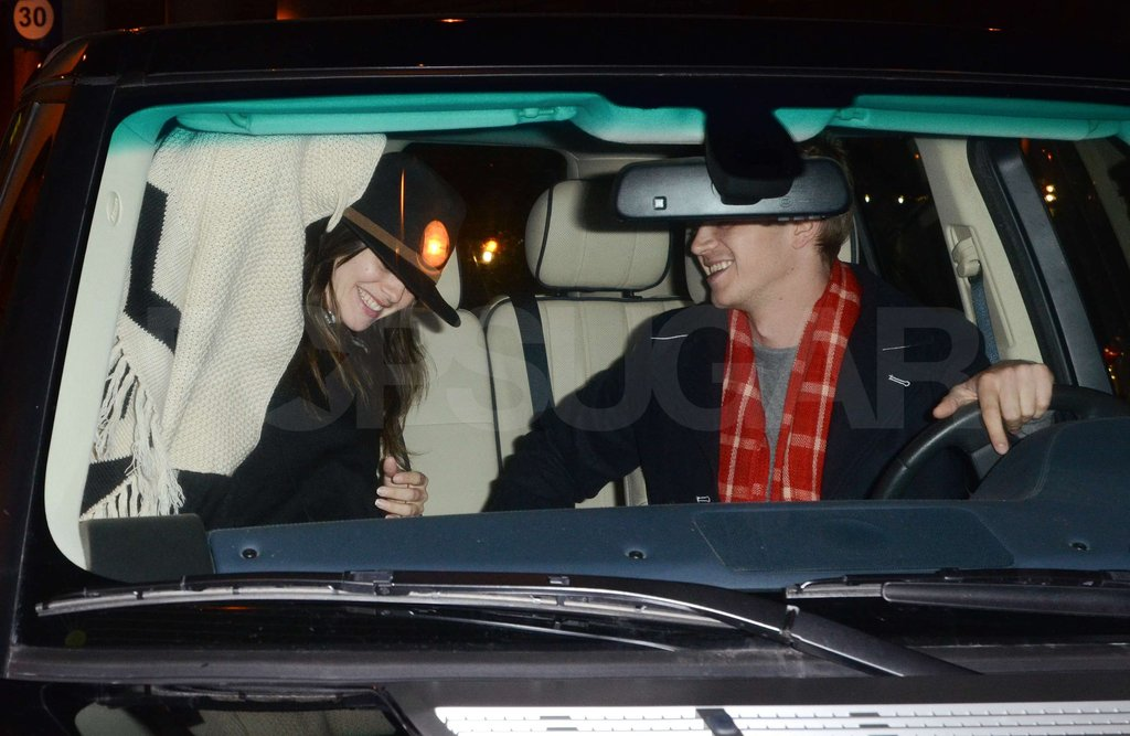 Rachel Bilson hopped into Hayden Christensen's car.
