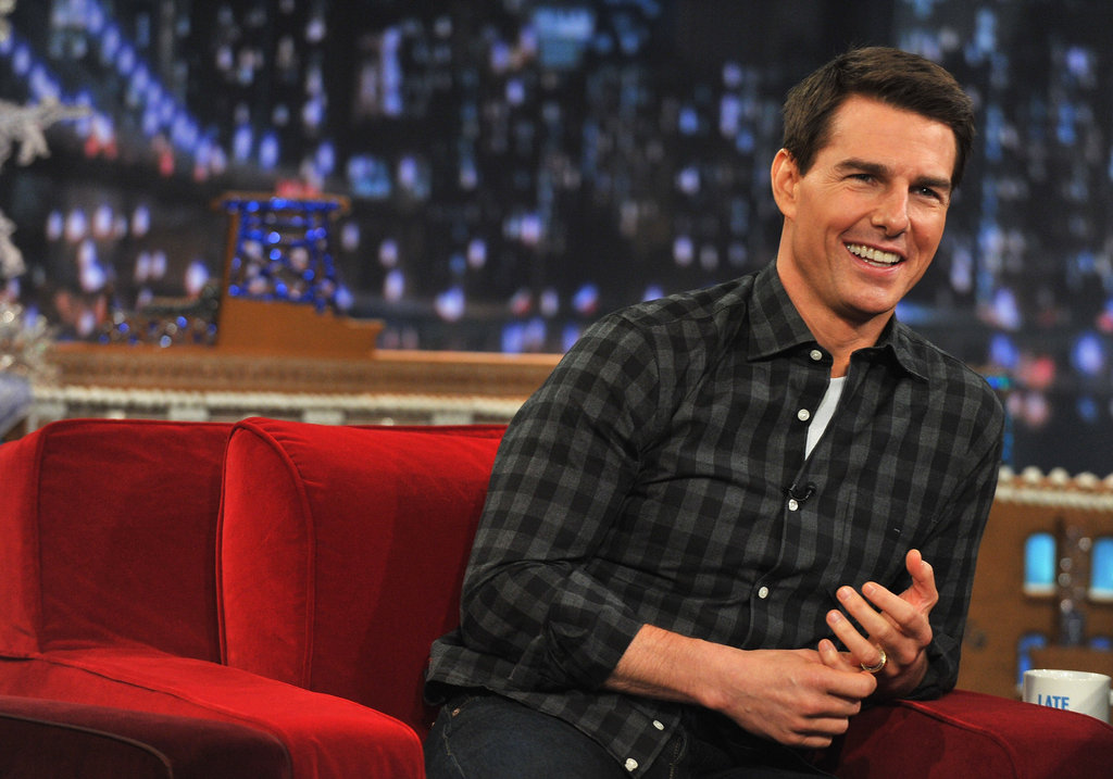 Tom Cruise was handsome in flannel.