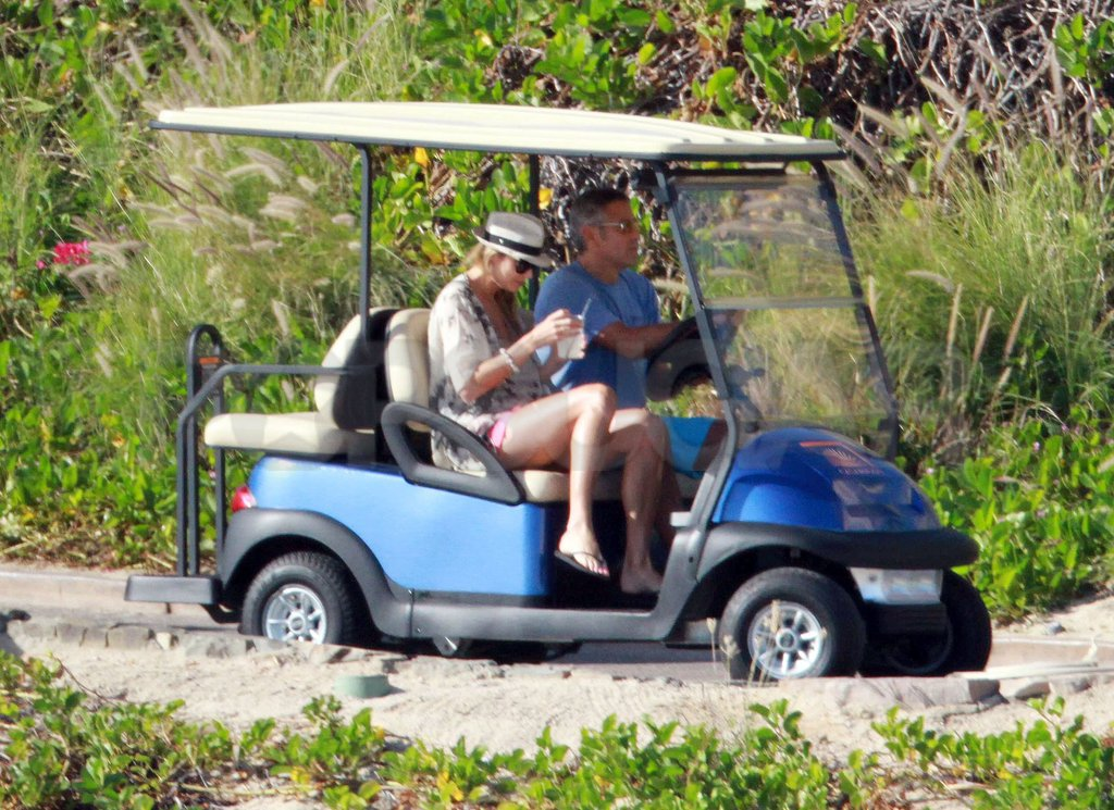 George Clooney drove Stacy Keibler around Cabo.