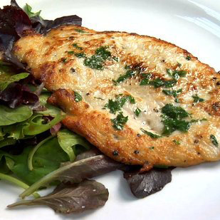 Chicken Paillard With Ponzu Dressing