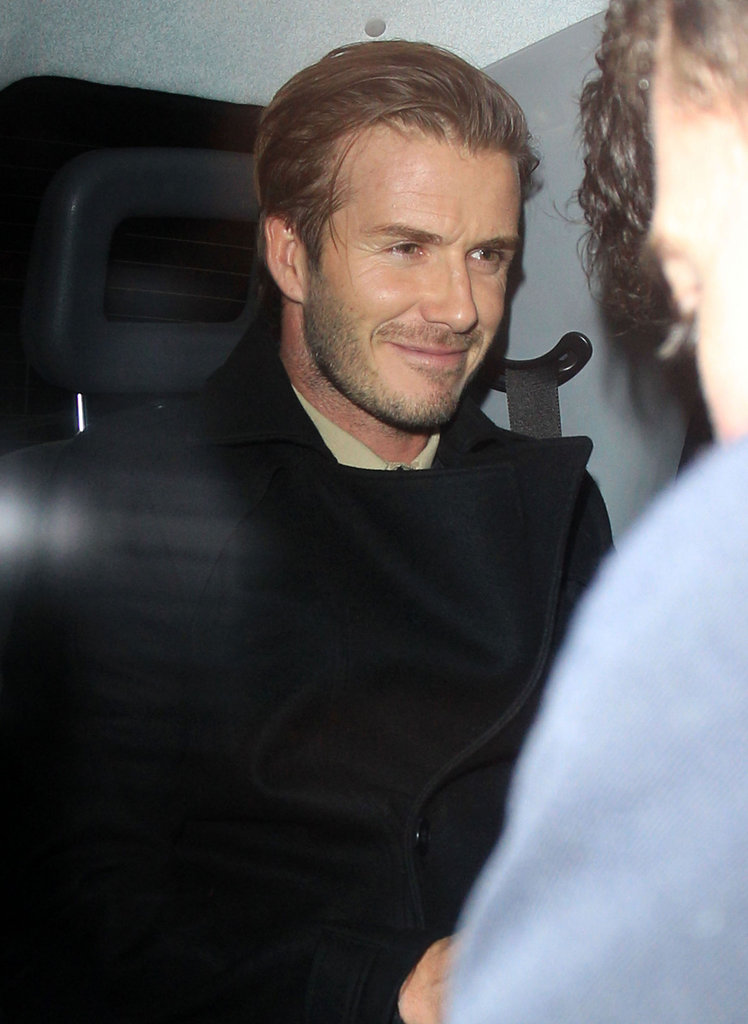 David Beckham smiled on his way home from The Arts Club.