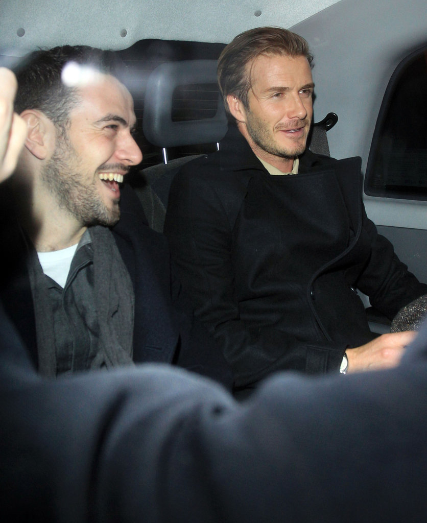 David Beckham went out for a night in London.