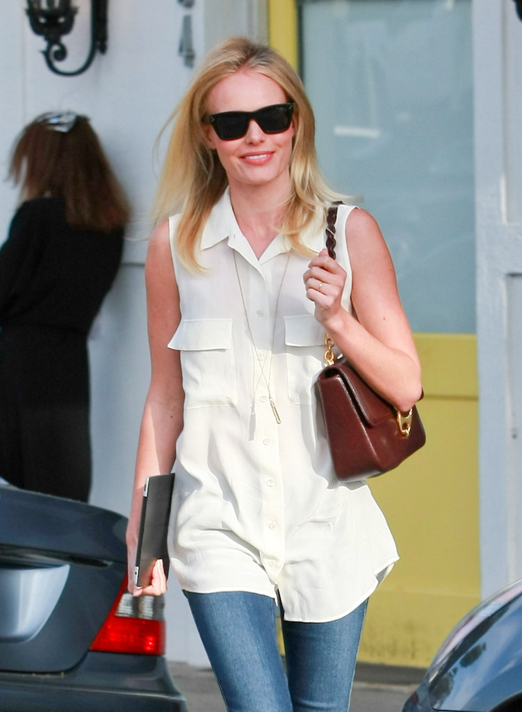 Kate Bosworth keeps her iPad with her while out and about.