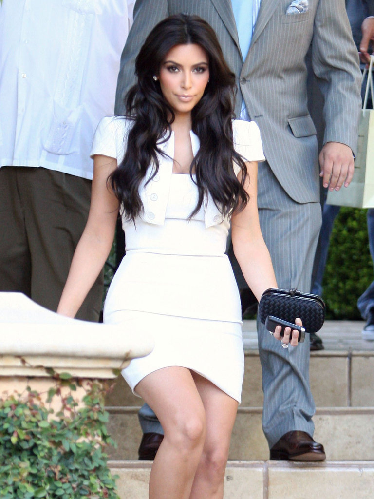 Kim Kardashian always has her BlackBerry in hand.