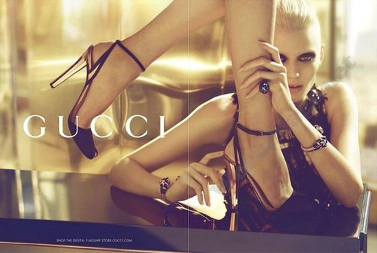 Gucci's Spring 2012 ad campaign features a heavy dose of sexy silhouettes and black eyeliner. Source: Fashion Gone Rogue