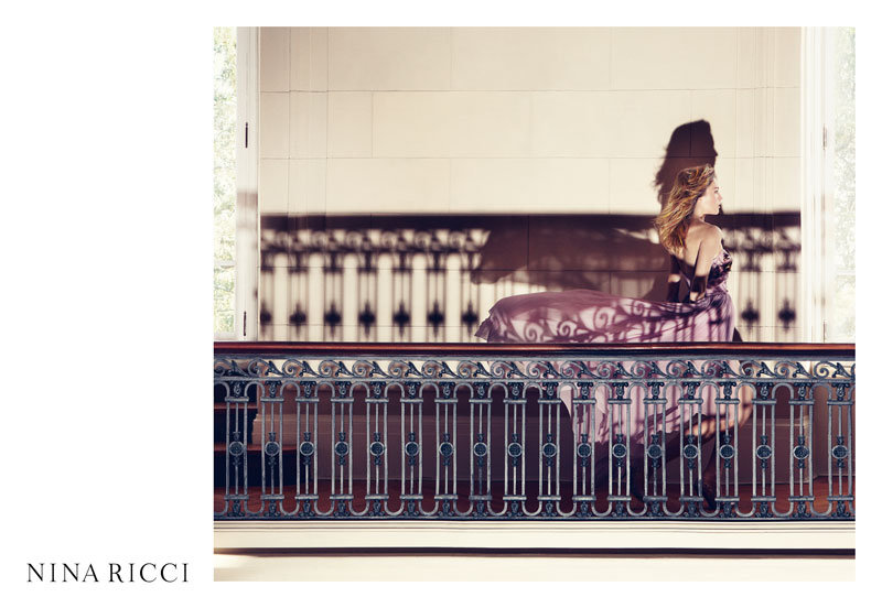 We get a fleeting shot of a gorgeous purple gown in the Spring 2012 Nina Ricci ads. Source: Fashion Gone Rogue
