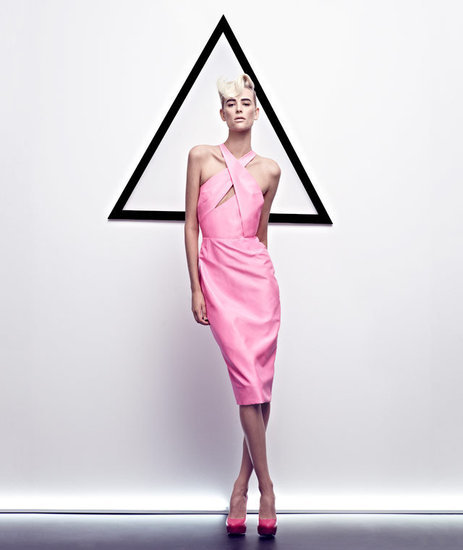 This girlie pink keyhole cutout dress from Cushnie et Ochs gives its Spring '12 ads a much-needed burst of colour. Source: Fashion Gone Rogue
