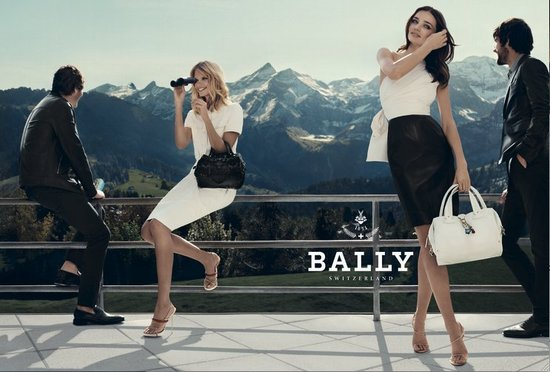 The Bally Spring 2012 ads feature models Miranda Kerr and Julia Stegner. Source: Fashion Gone Rogue