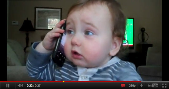 Baby on a Cell Phone