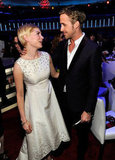 Michelle Williams and Ryan Gosling share a sweet moment at the Critics' Choice Movie Awards.