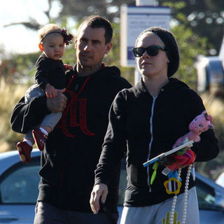 Pink and Baby Willow Pictures After Christmas in Malibu