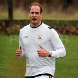 Prince William spent Christmas Eve playing soccer.