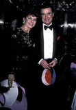 Regis Philbin and his wife, Joy, pose for a photo at a 1985 New Year's Eve party at Regine's in NYC.