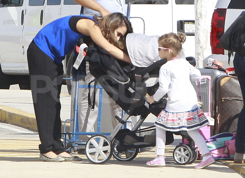 Jessica Alba and Honor Warren doted on baby Haven.