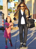 Jennifer Garner and Violet held hands on a walk in LA.