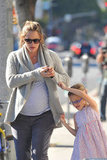 Jennifer Garner and Violet Affleck enjoyed a warm day in LA.