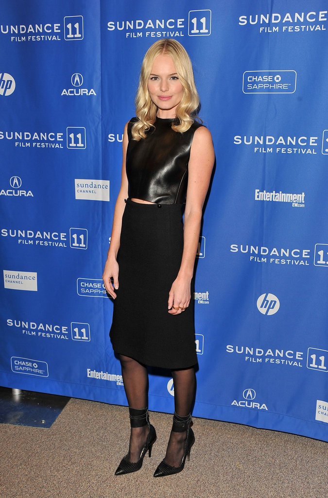 Kate Bosworth shined in a black sliced Chloé dress in January 2011.