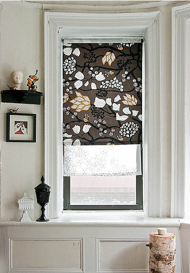 Buy a few yards of your favorite fabric and whip up these roller blinds courtesy of Design Sponge. Source: Design*Sponge