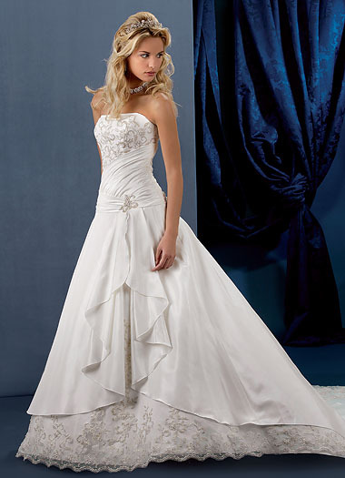 Wedding Gowns With Designs : Wedding dresses designs photos pictures pics images