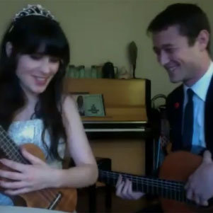 Zooey Deschanel and Joseph Gordon-Levitt New Year's Eve Video