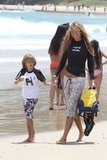 Elle MacPherson spent time with her sons.
