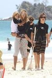 Elle MacPherson's sons were by her side on vacation.