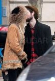 Tom Sturridge leaned in to kiss Sienna Miller.