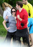 John Krasinski and Emily Blunt showed PDA on the beach.