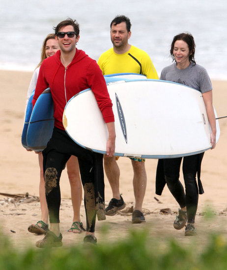 Surf's Up For John, Emily, and Jimmy During Their Hawaiian Getaway
