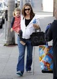Jennifer Garner had Seraphina Affleck by her side.