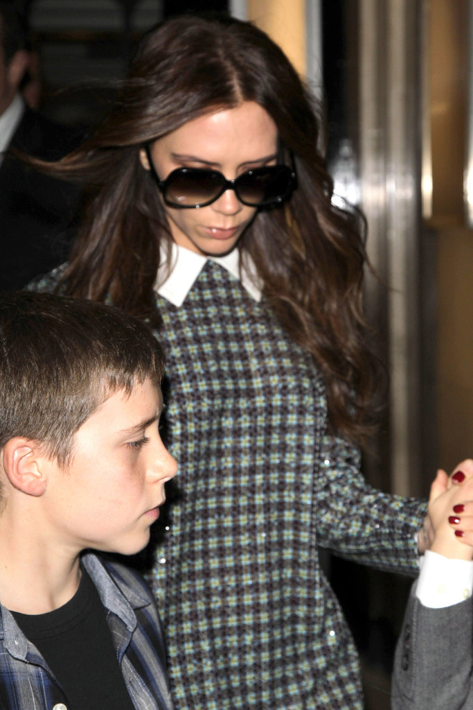 Victoria Beckham wore sunglasses in London.