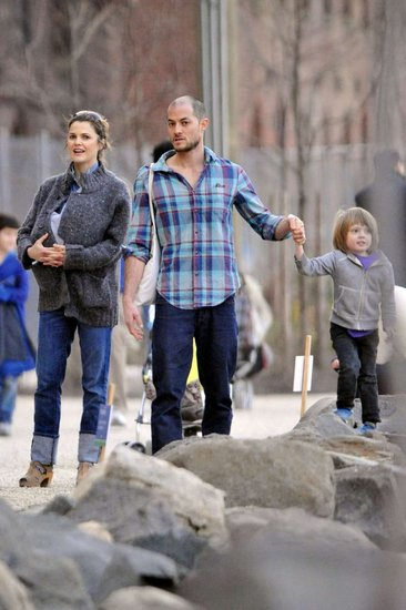 Keri Russell Brings Out New Baby Willa Lou and Family