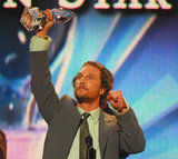 Matthew McConaughey got animated while accepting his favorite male action star award in 2006.