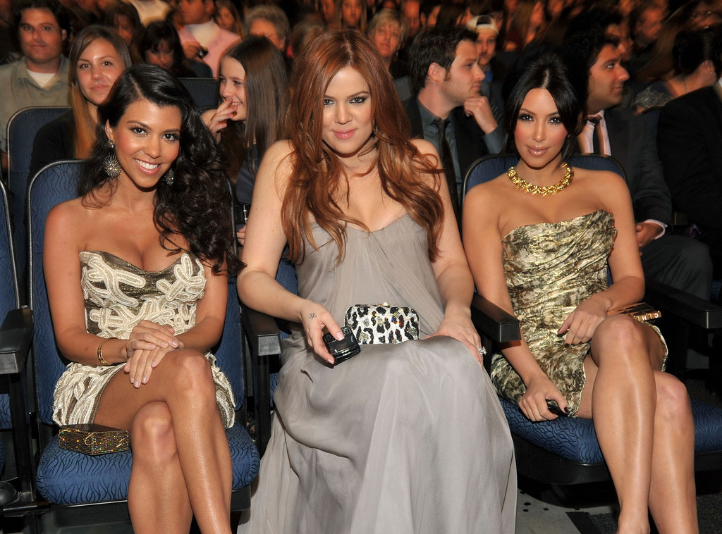 Kourtney, Khloé, and Kim Kardashian enjoyed front-row seats to the 2011 show.