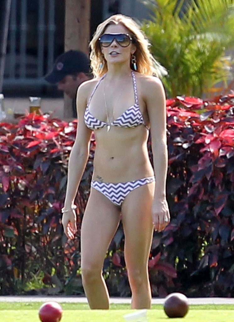 LeAnn Rimes wore a bikini to play bocce ball in Hawaii in March 2012.