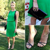 Charlize Theron&#039;s Green Dress in Palm Springs