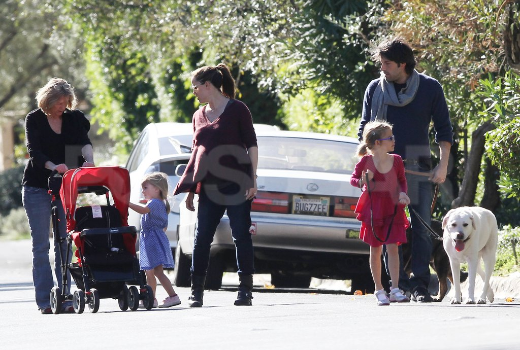 Ben Affleck and Jennifer Garner spent the day with their daughters Violet and Seraphina Affleck.
