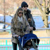 Gisele Bundchen and Tom Brady Visit a Boston Park With Ben