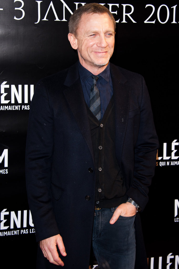 Daniel Craig wears jeans on the red carpet in Paris.