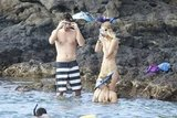Zach and Taylor hopped into the water.