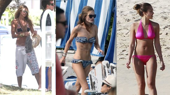 Jessica Alba and Rosie Huntington-Whiteley Step Out in Hot Bikinis For The New Year