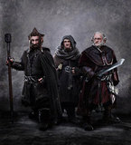 Jed Brophy as Nori, Adam Brown as Ori, and Mark Hadlow as Dori in The Hobbit: An Unexpected Journey.