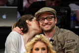 Jessica Biel and Justin Timberlake kissed at a May 2009 Lakers game.