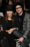 Justin Timberlake and Jessica Biel sat front row at NY Fashion Week in February 2010.