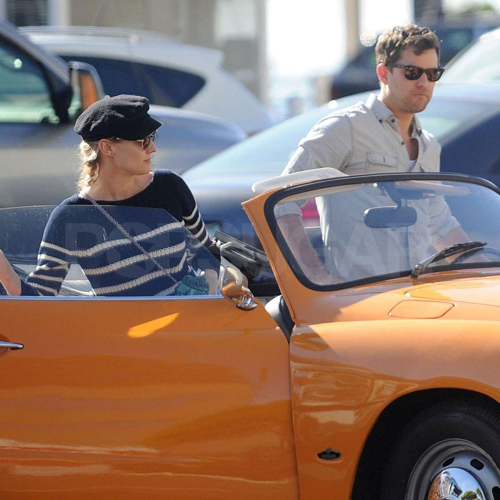 Diane Kruger and Joshua Jackson hopped in their car.