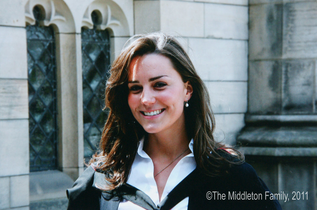 Kate Middleton smiled after graduating from St. Andrews University in Scotland back in June 2005.   © The Middleton Family, 2011. All rights reserved.