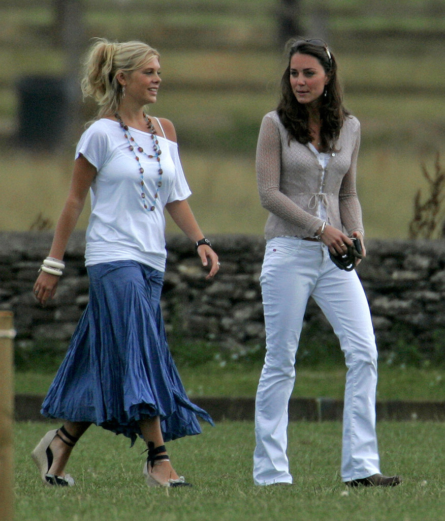Kate Middleton and Prince Harry's then-girlfriend, Chelsy Davy, were together in Tetbury, England in July 2006 to watch a polo match.