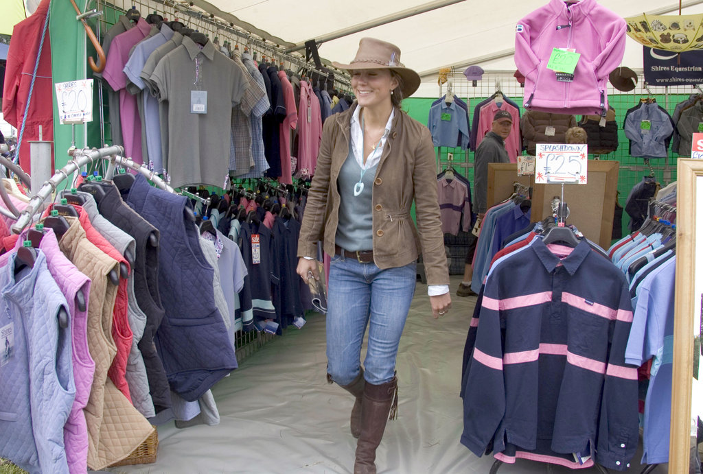 Kate Middleton browsed the stalls in August 2005 while at the Gatcombe Park Festival of British Eventing.
