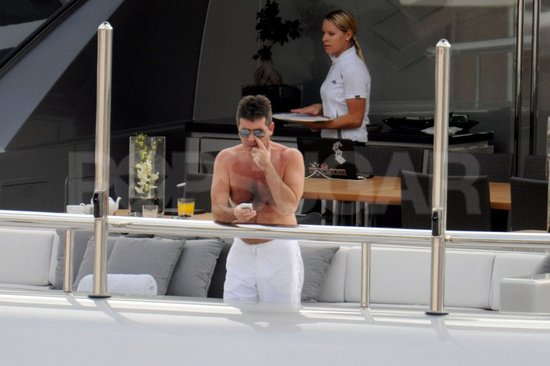 Simon Cowell was trim as ever in St. Barts.
