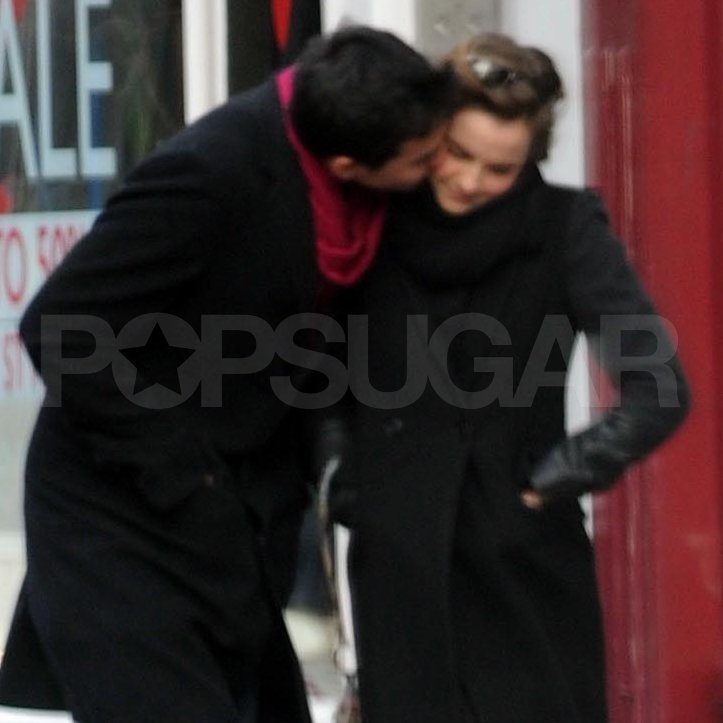 Emma Watson Begins the Year With a Kiss From a New Guy